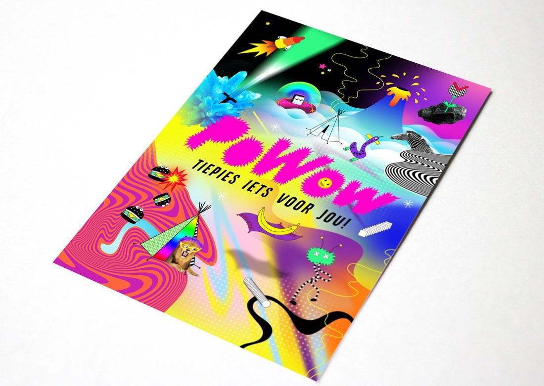 Illustrative identity design for powow art education for kids